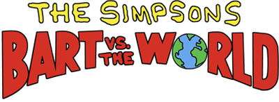 The Simpsons: Bart vs. the World - Clear Logo