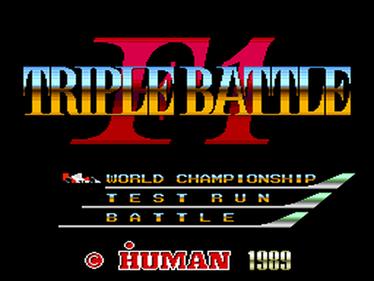 F1 Triple Battle - Screenshot - Game Title