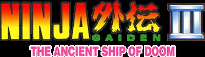 Ninja Gaiden III: The Ancient Ship of Doom - Clear Logo