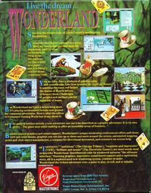 Wonderland - Box - Back