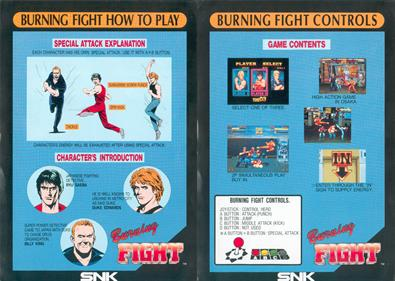 Burning Fight - Arcade - Controls Information