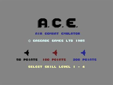 ACE: Air Combat Emulator - Screenshot - Game Title