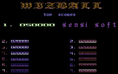 Wizball - Screenshot - High Scores