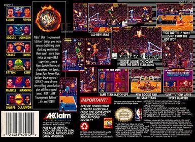 NBA Jam Tournament Edition - Box - Back