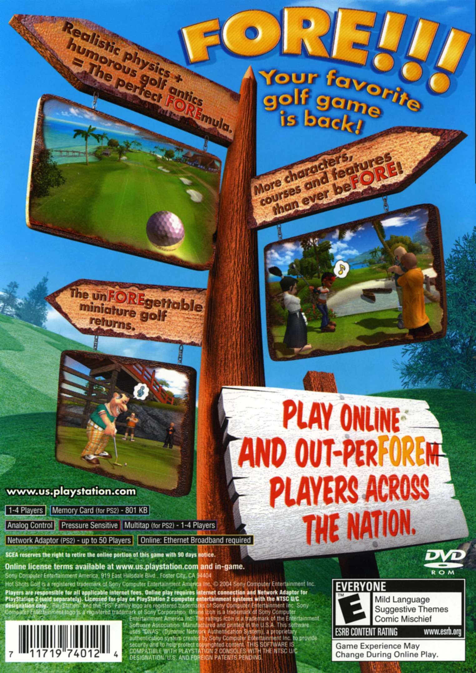 Box - Front Hot Shots Golf Fore!