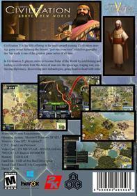 Civilization V: Brave New World - Box - Back