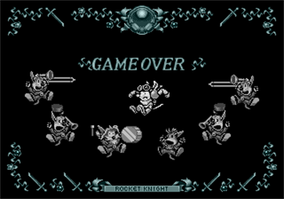 Rocket Knight Adventures - Screenshot - Game Over