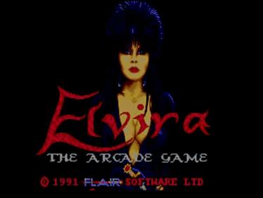 Elvira: The Arcade Game - Screenshot - Game Title