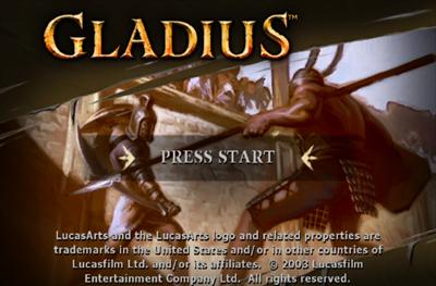 Gladius - Screenshot - Game Title