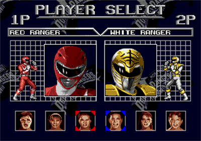 Mighty Morphin Power Rangers: The Movie - Screenshot - Game Select