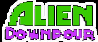Alien Downpour - Clear Logo