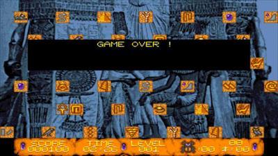 The Curse of Ra - Screenshot - Game Over