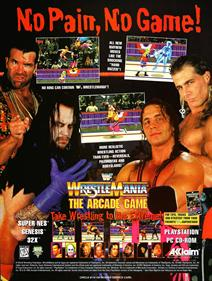 WWF WrestleMania: The Arcade Game - Advertisement Flyer - Front