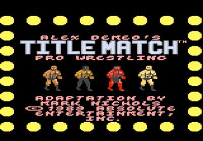 Title Match Pro Wrestling - Screenshot - Game Title
