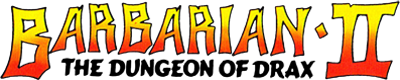 Barbarian II: The Dungeon Of Drax - Clear Logo