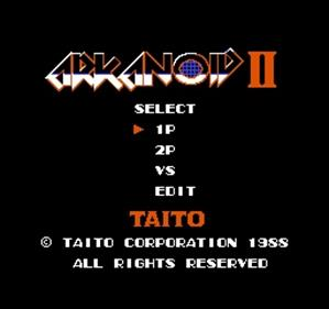 Arkanoid II - Screenshot - Game Title