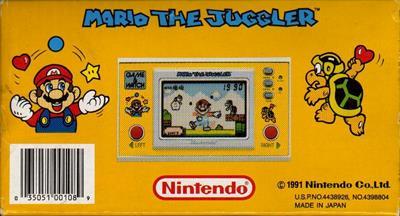 Mario the Juggler - Box - Back