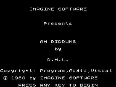 Ah Diddums - Screenshot - Game Title