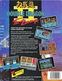 Double Dragon II: The Revenge - Box - Back