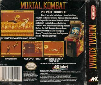 Mortal Kombat - Box - Back
