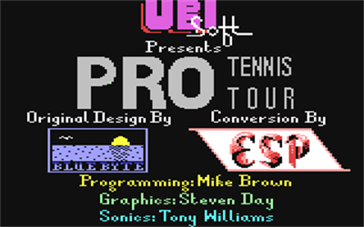 Jimmy Connors Pro Tennis Tour - Screenshot - Game Title