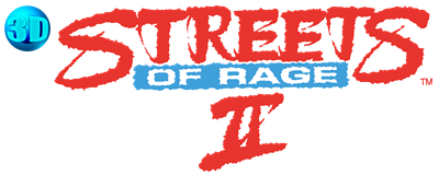 3D Streets of Rage 2 - Clear Logo