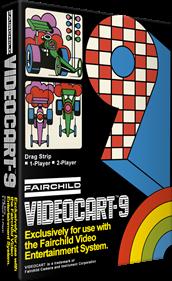 Videocart-9: Drag Strip - Box - 3D