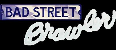 Bad Street Brawler - Clear Logo