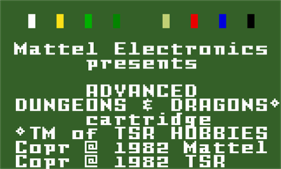 Advanced Dungeons & Dragons: Cloudy Mountain - Screenshot - Game Title