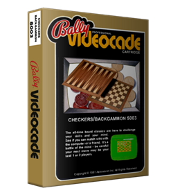 Checkers + Backgammon - Box - 3D