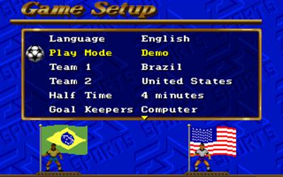 FIFA International Soccer - Screenshot - Game Select