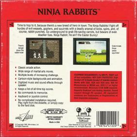 Ninja Rabbits - Box - Back