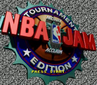 NBA Jam Tournament Edition - Screenshot - Game Title