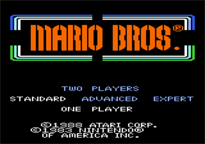 Mario Bros. - Screenshot - Game Title