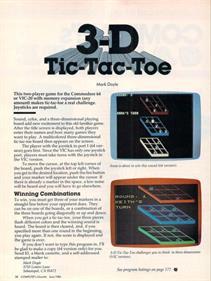 3D Tic-Tac-Toe (COMPUTE! Publications, Inc.) - Advertisement Flyer - Front