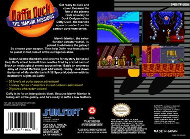 Daffy Duck: The Marvin Missions - Box - Back