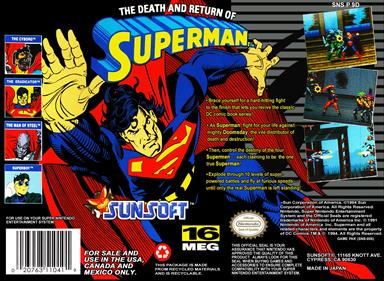 The Death and Return of Superman - Box - Back
