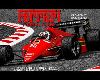 Ferrari Formula One - Screenshot - Game Title