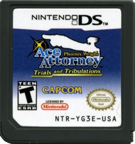 Phoenix Wright: Ace Attorney: Trials and Tribulations - Cart - Front