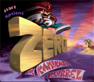 Zero the Kamikaze Squirrel - Screenshot - Game Title