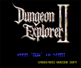 Dungeon Explorer II - Screenshot - Game Title