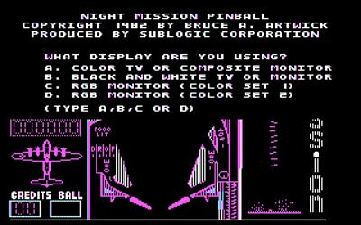 Night Mission Pinball - Screenshot - Game Title