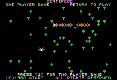 Centipede - Screenshot - Game Title