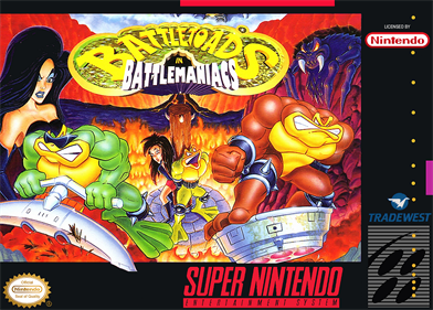 Battletoads in Battlemaniacs - Box - Front - Reconstructed