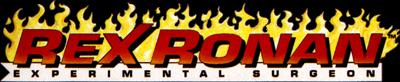 Rex Ronan: Experimental Surgeon - Clear Logo
