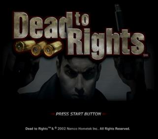 Dead to Rights - Screenshot - Game Title