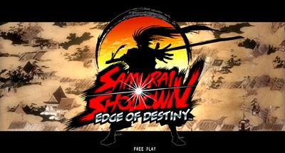 Samurai Shodown: Edge of Destiny - Screenshot - Game Select