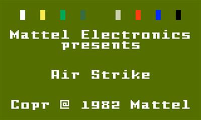 Air Strike - Screenshot - Game Title