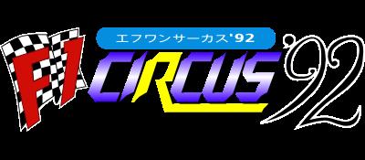 F1 Circus '92 - Clear Logo