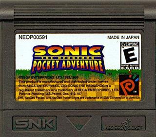 Sonic the Hedgehog Pocket Adventure - Cart - Front